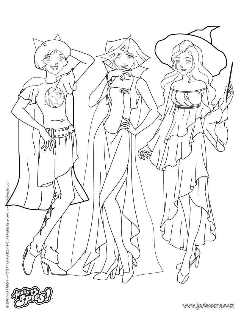 820x1060 Jem And The Holograms Coloring Totally Spies Pages For Kids Free