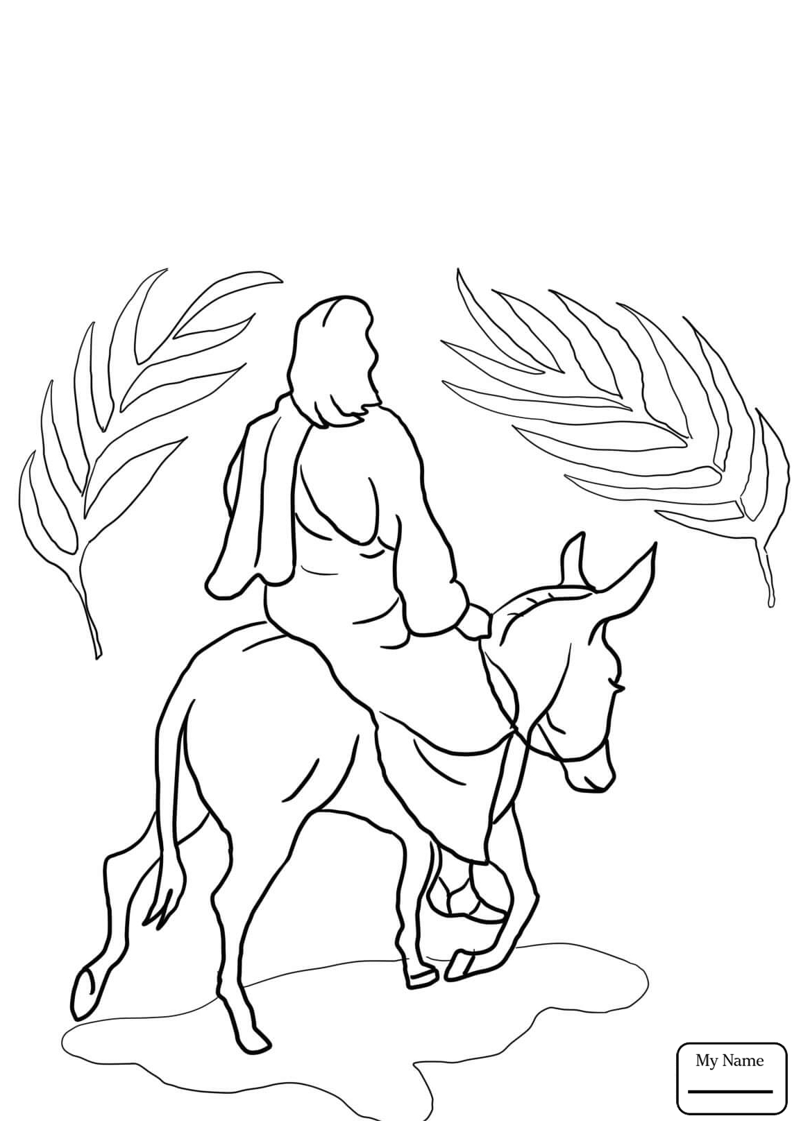 1154x1632 Huge Gift Triumphal Entry Coloring Page Holidays Into Jerusalem