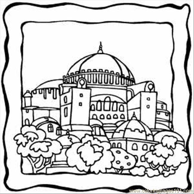 650x650 Jerusalem Coloring Pages