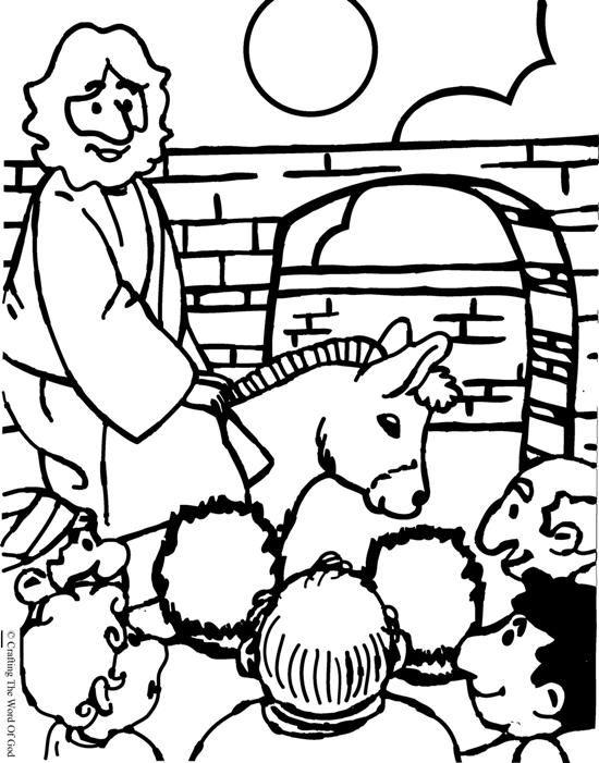 550x701 Jesus Enters Jerusalem