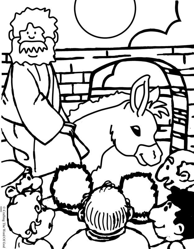 625x800 Jesus Enters Jerusalem Coloring Page Crafting The Word Of God