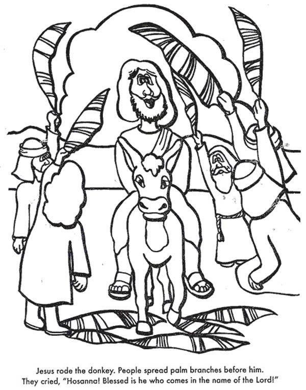 600x765 Jesus Rode The Donkey When Entry Into Jerusalem In Palm Sunday