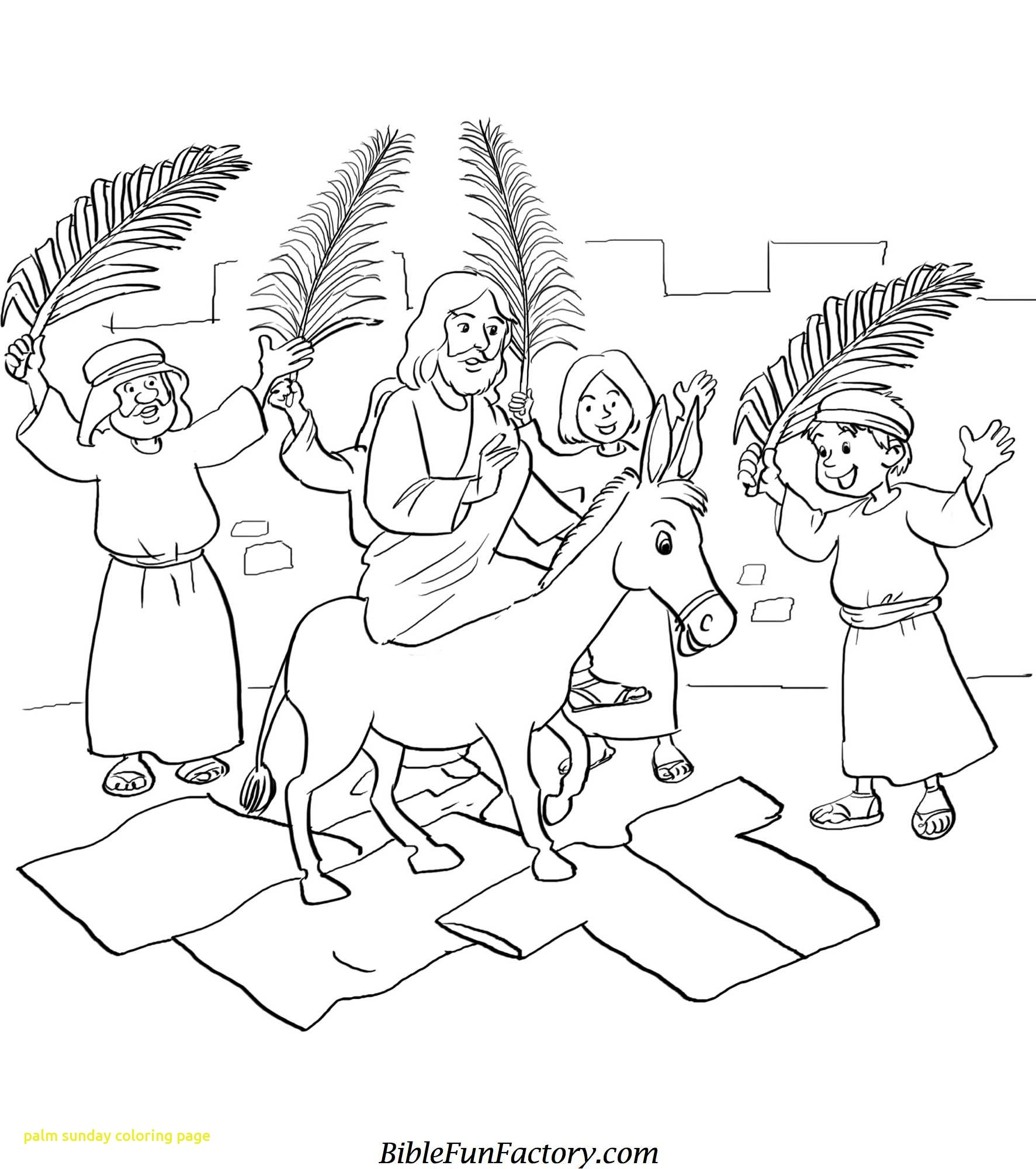 1773x2000 New Jesus Enters Jerusalem In This Palm Sunday Coloring Page