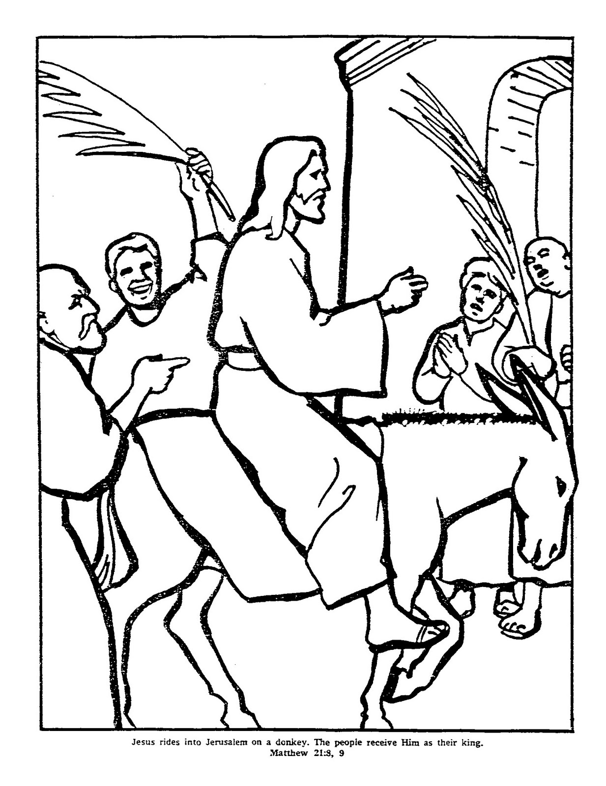1233x1600 Palm Sunday Coloring Pages