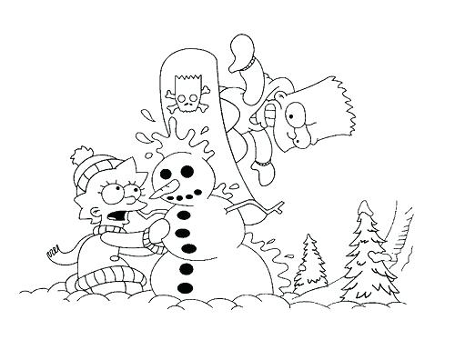 500x374 Best The Simpsons Images On Colouring Pages Tv Show