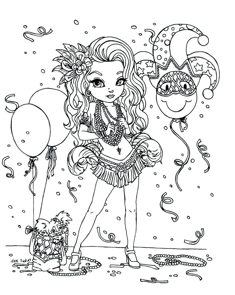 778x976 Mardi Gras Coloring Pages Free Jester Coloring Page Mardi Gras