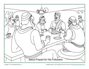 300x232 Jesus Prayed For His Disciples Coloring Page On Sunday School Zone