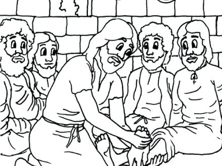 Jesus And His Disciples Coloring Pages At Getdrawings Com Free For