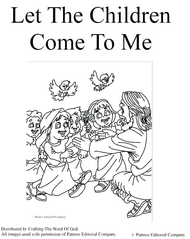 636x800 Jesus Blesses The Children Coloring Page And Children Coloring