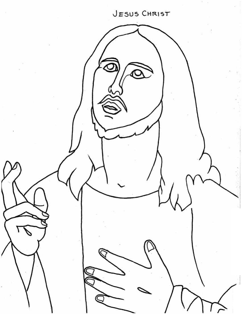 850x1099 Reduced Jesus Christ Coloring Pages Printable For Kids