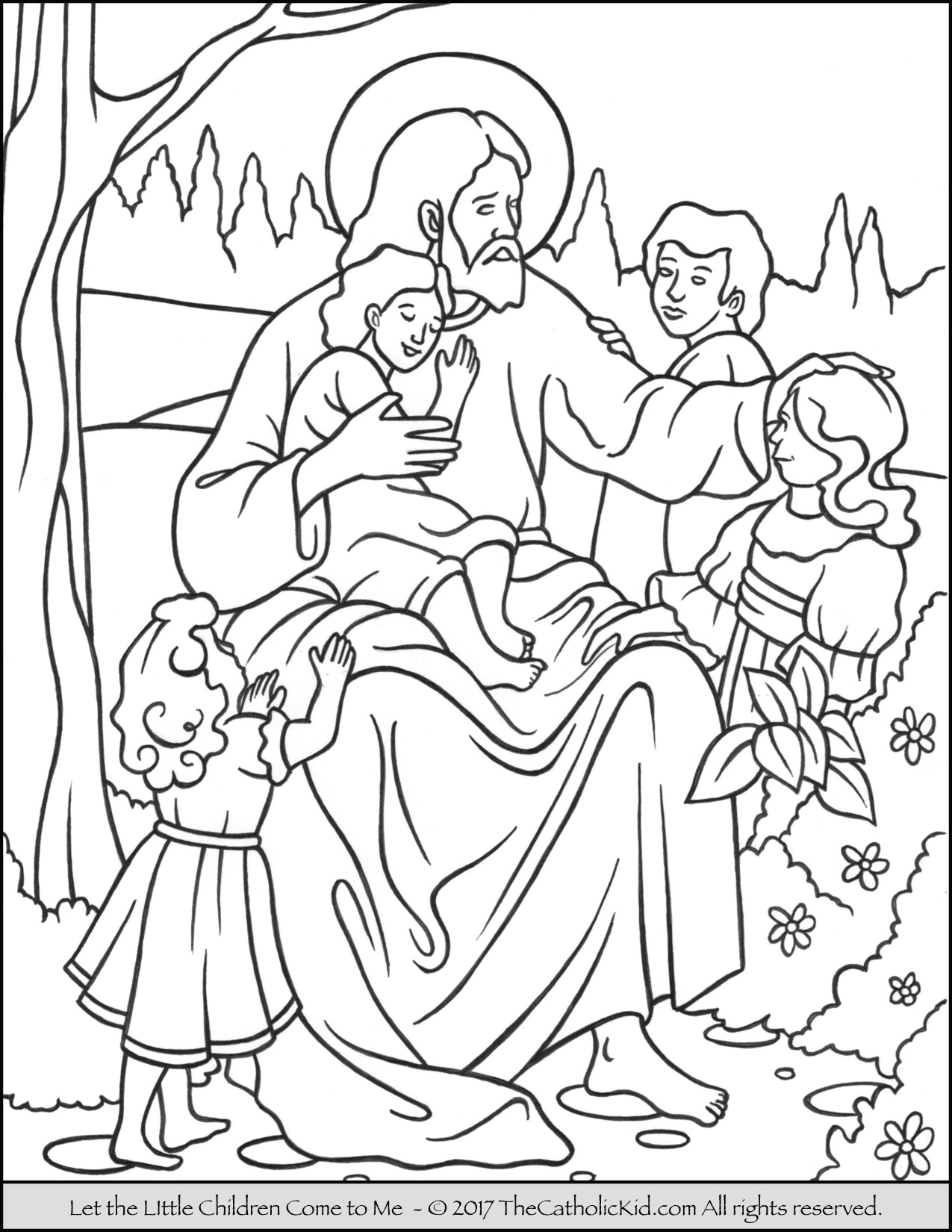 1275x1650 Jesus Let The Little Children Come To Me Coloring Page Jesus