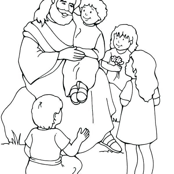 600x600 Jesus Loves The Little Children Coloring Pages Deepart