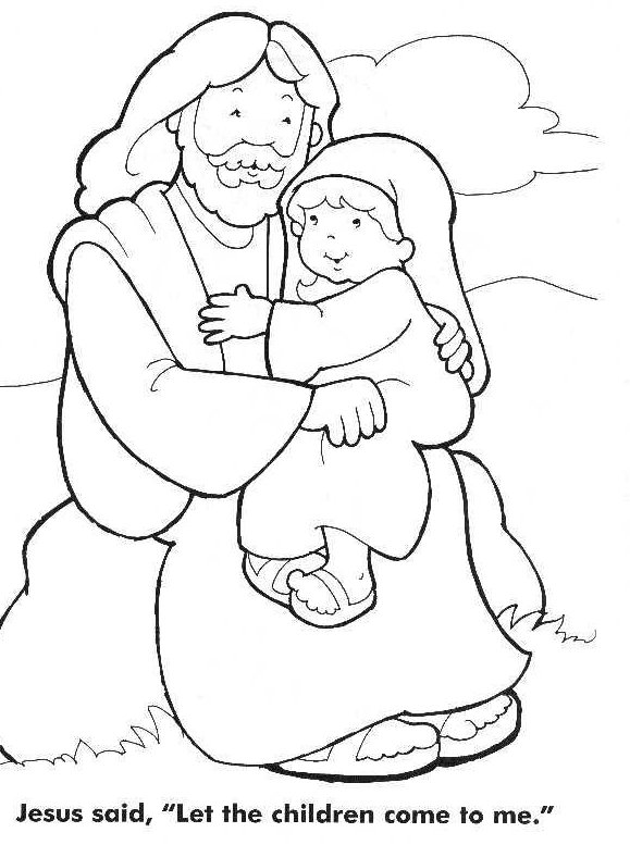 579x777 Jesus As A Child Coloring Pages Jesus Loves The Little Children