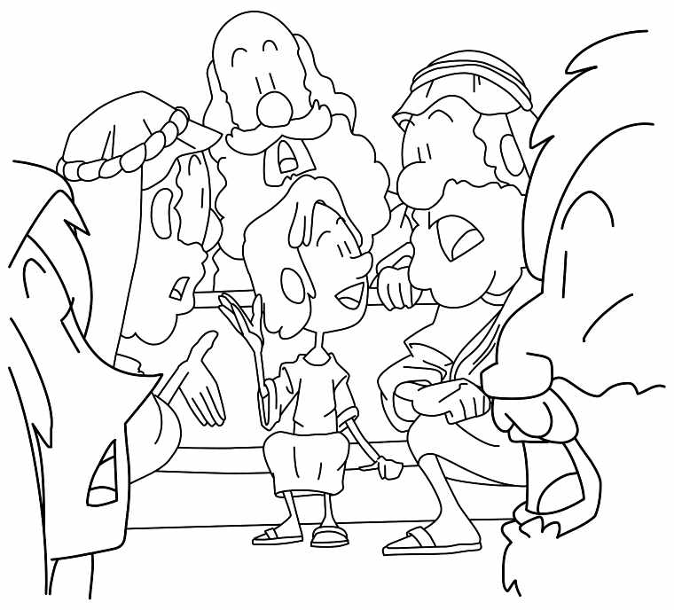 760x688 The Boy Jesus In Temple Coloring Page Young Boy Jesus