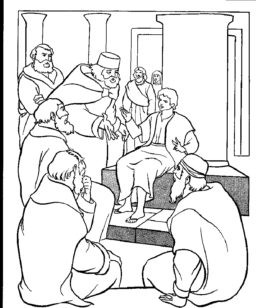 850x1022 Boy Jesus In The Temple Coloring Page Newyork