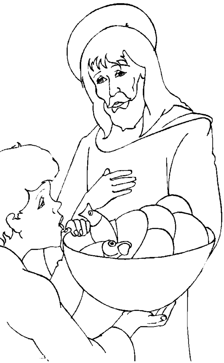 727x1178 Free Printable Jesus Coloring Pages For Kids