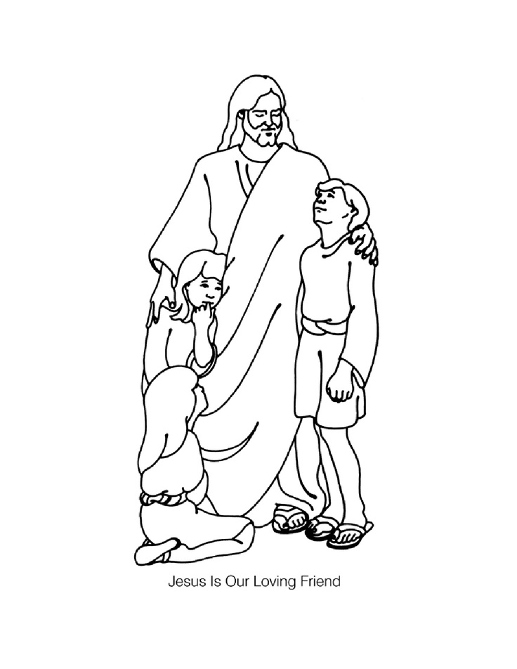 736x952 With Children Coloring Page Coloring Pages Of Jesus