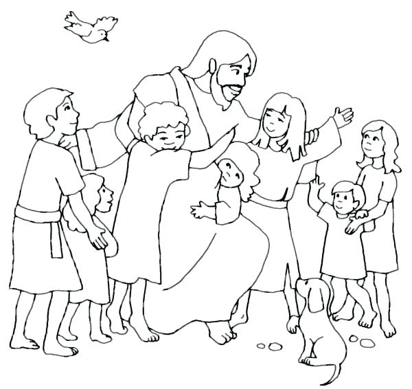 600x566 Jesus Printable Coloring Pages