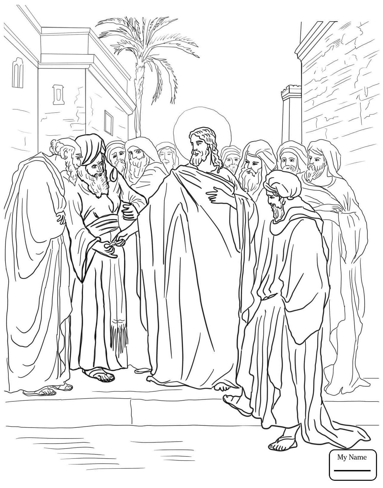 1280x1632 Appealing Jesus Calls The First Disciples Coloring Page Printable