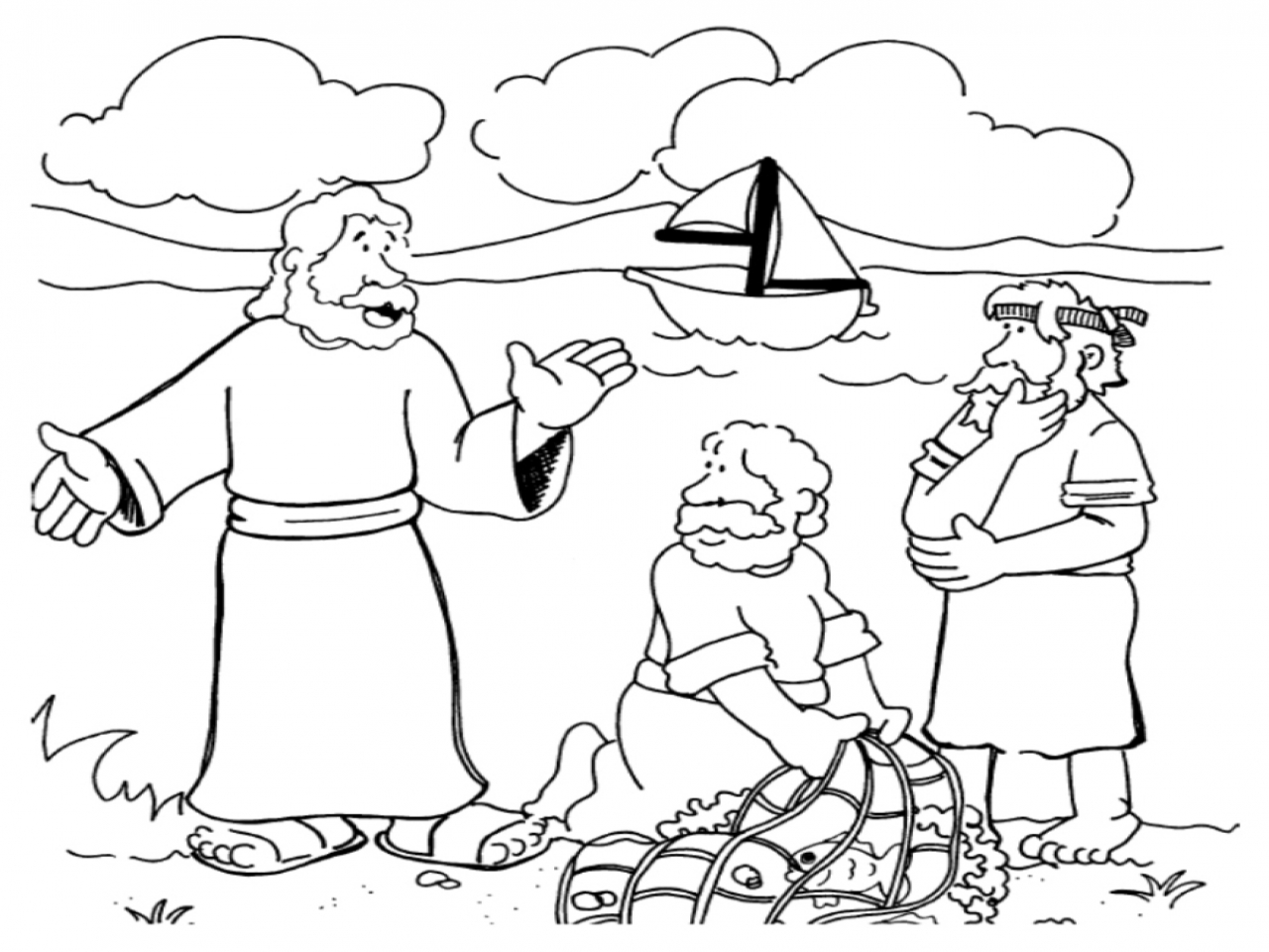 1280x960 Disciples Coloring Pages Jesus Calls His Page