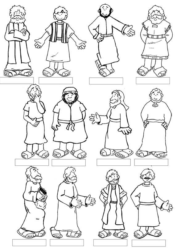 600x805 For Jesus And Disciples Coloring Page