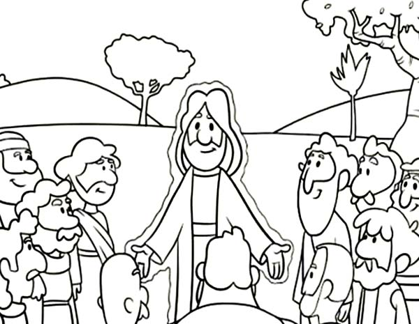 600x465 Jesus And Disciples Coloring Page