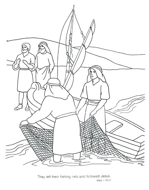 576x734 Jesus And The Disciples Coloring Pages And The Disciples Coloring