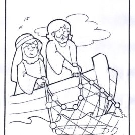 268x268 Jesus Calls His Disciples Coloring Pages Crafting The Word