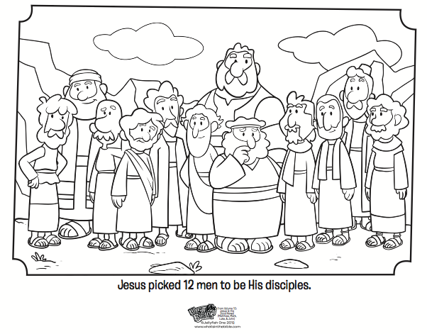 602x471 Disciples Coloring Page