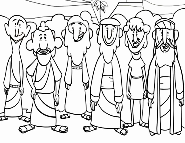 600x464 Jesus And The Disciples Coloring Page Inspirational Picture