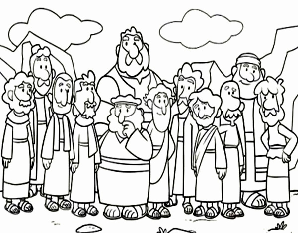 600x468 Jesus The Disciples Coloring Page Lovely Jesus