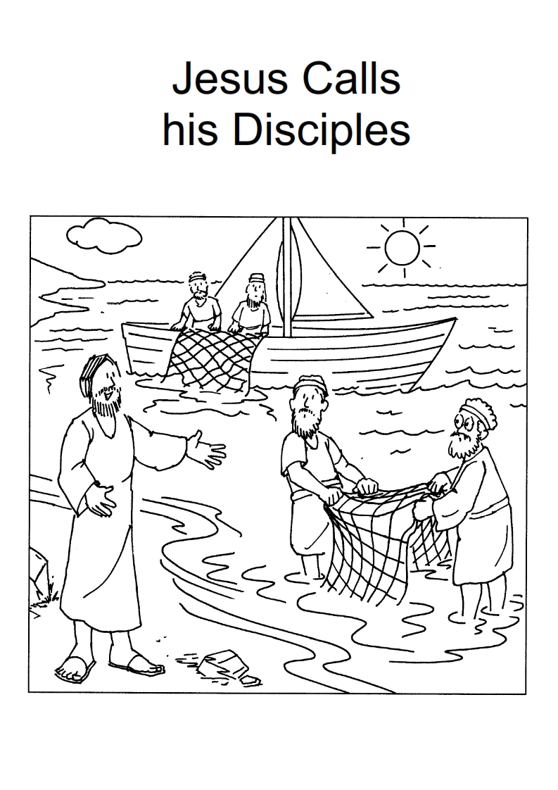 793x1122 New Jesus Calling His Disciples Coloring Pages Collection Free