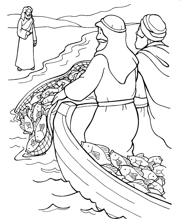 600x725 Coloring Pages Jesus Calls Disciples Coloring Pages For Kids