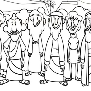 300x300 Disciples Coloring Page Free Download