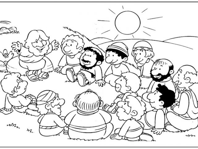 640x480 Jesus Calls The First Disciples Coloring Pages Coloring Page Zone