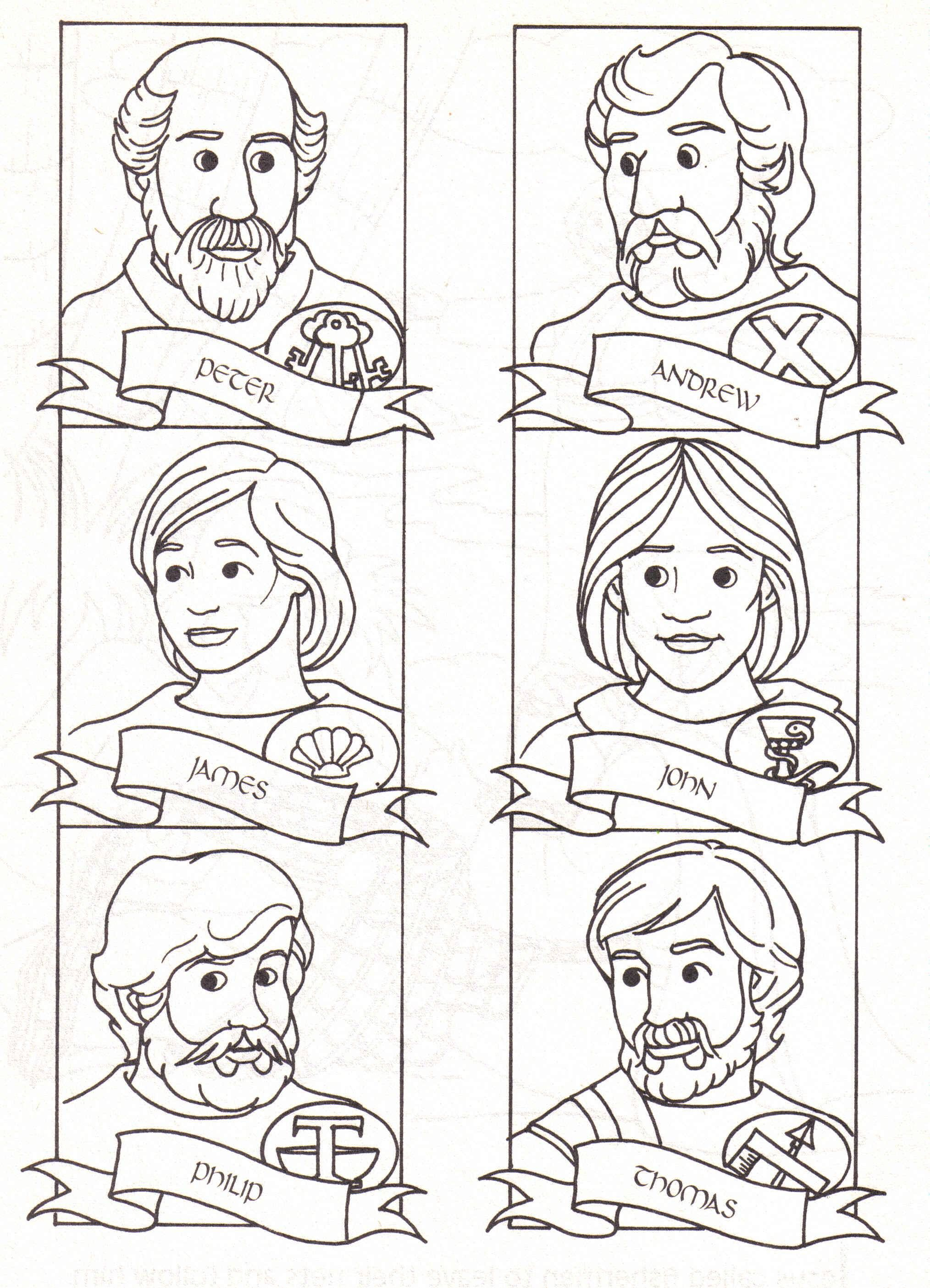 2028x2809 Disciples Coloring Page Download I Was Thinkingbout Making