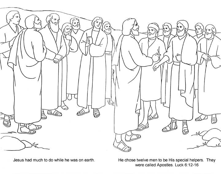 720x581 Disciples Coloring Page Fair Jesus And The Disciples