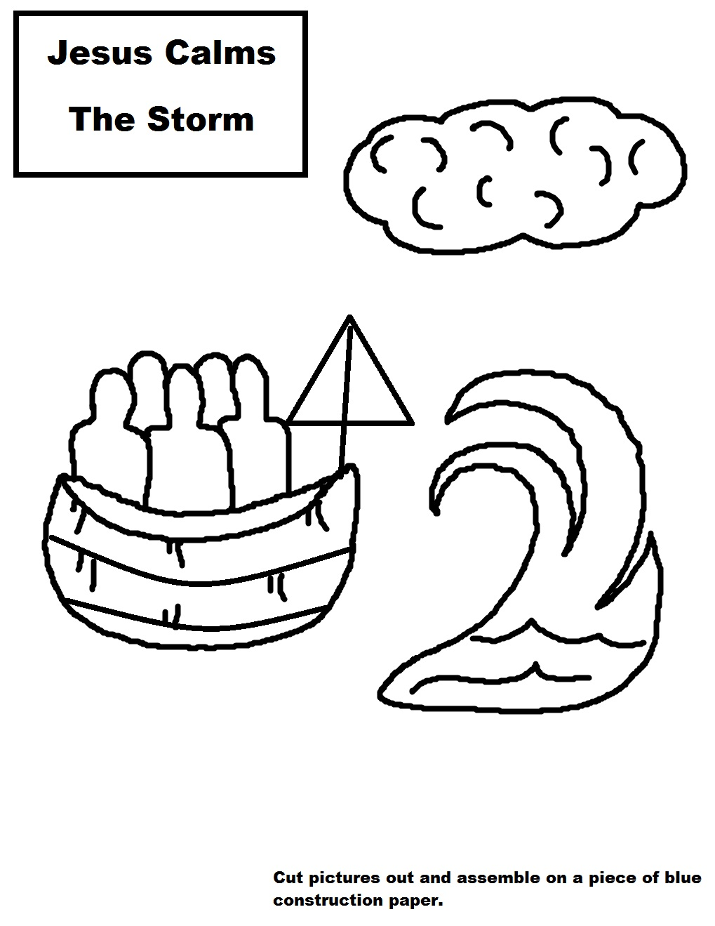 Jesus Calms The Storm Coloring Page At Getdrawings Com Free For