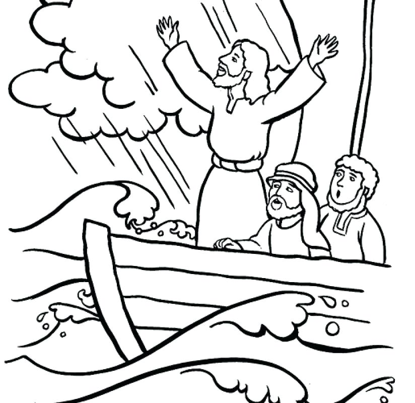 824x800 Jesus Calms The Storm Coloring Page Calms The Storm Coloring Page