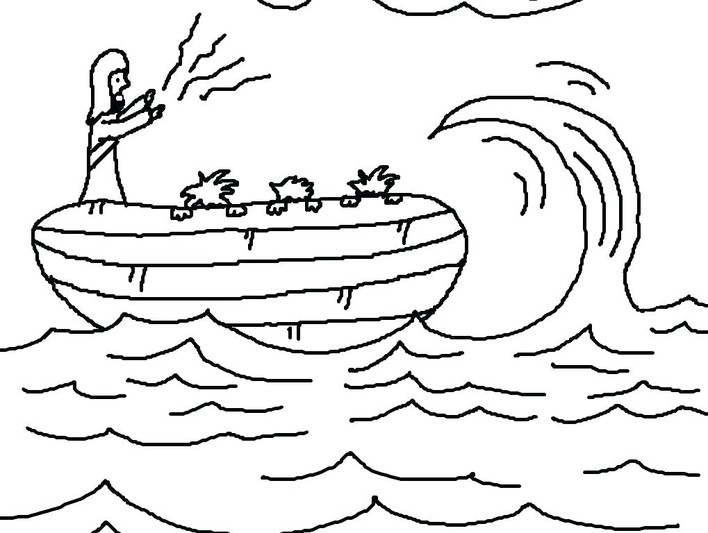 1019x768 Jesus Calms The Storm Coloring Page Stills The Storm Coloring Page