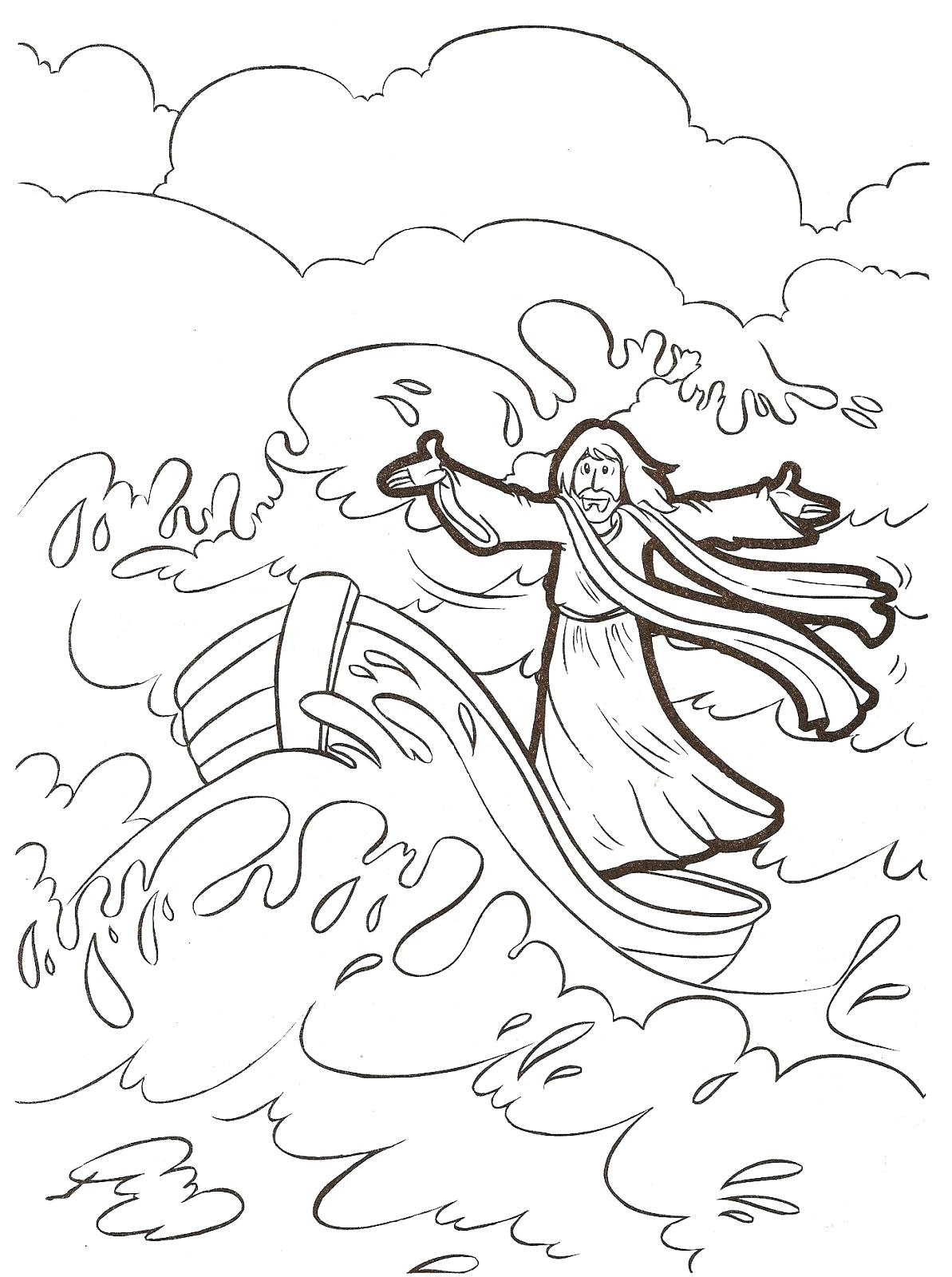 picture relating to Jesus Calms the Storm Printable known as Jesus Calms The Storm Coloring Web site at