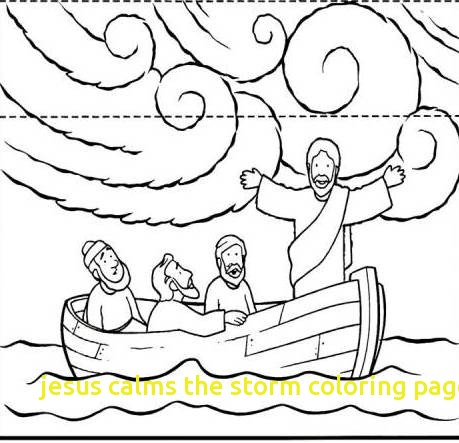 459x443 Jesus Calms The Storm Coloring Page With Jesus Calms The Storm