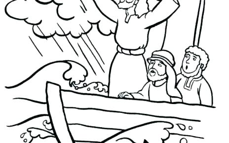 464x290 Jesus Stills The Storm Coloring Page Calms The Storm Craft