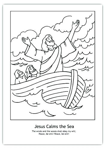 350x490 Coloring Page Of Jesus Calms The Storm Coloring Pages Calms Storm