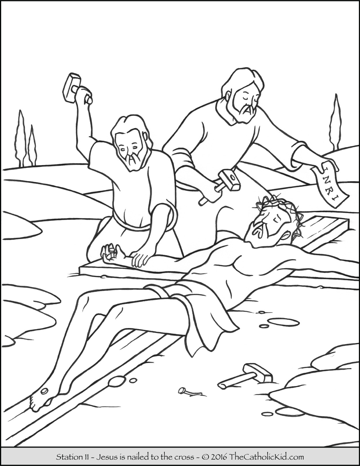 Jesus Carrying The Cross Coloring Pages