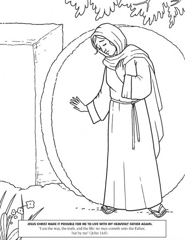 600x780 Jesus Christ Made It Possible In Jesus Resurrection Coloring Page