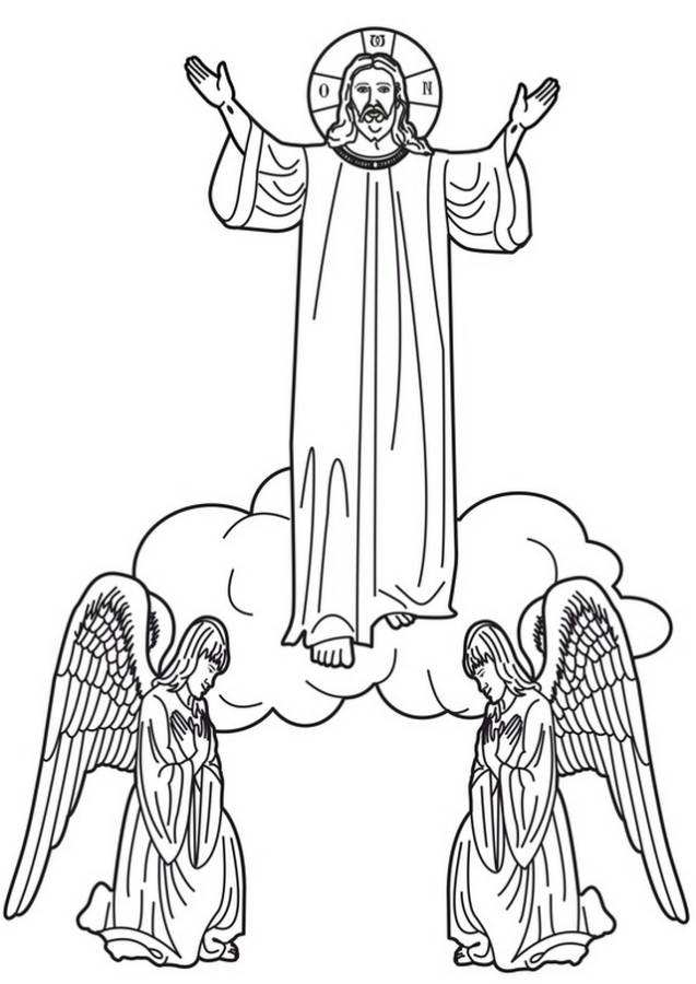 637x900 Ascension Of Jesus Christ Coloring Pages Family Holiday Jesus