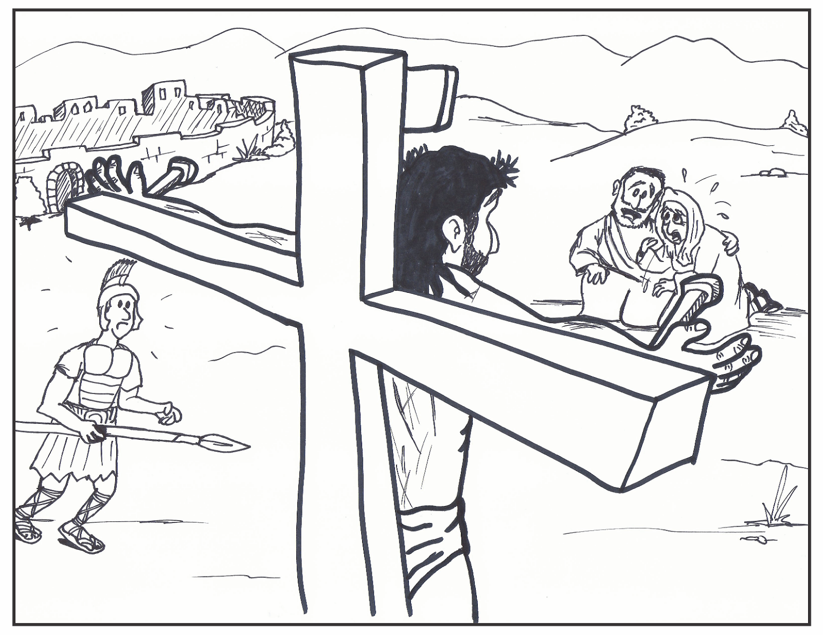1600x1236 Coloring Pages Of Jesus On The Cross