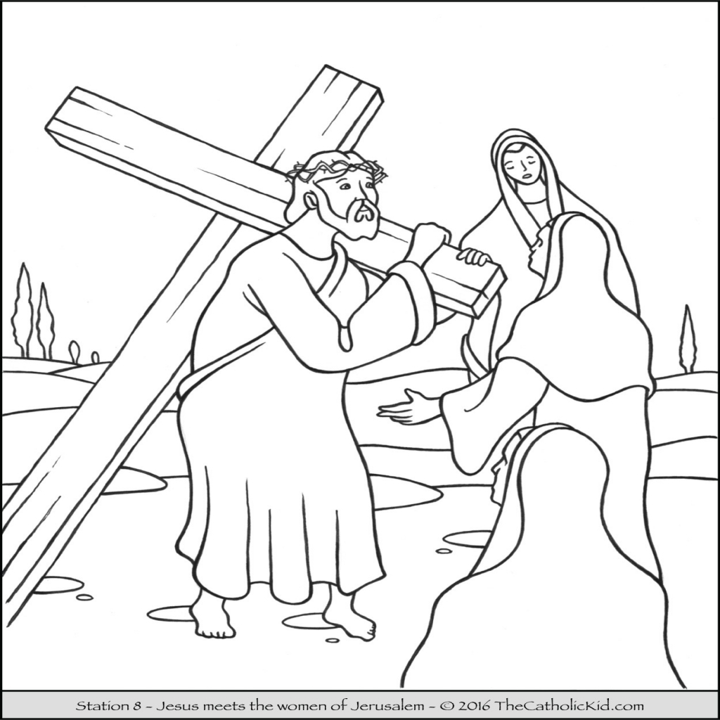 1024x1024 Cross Coloring Pages For Preschoolers Fresh Jesus Christ Carrying