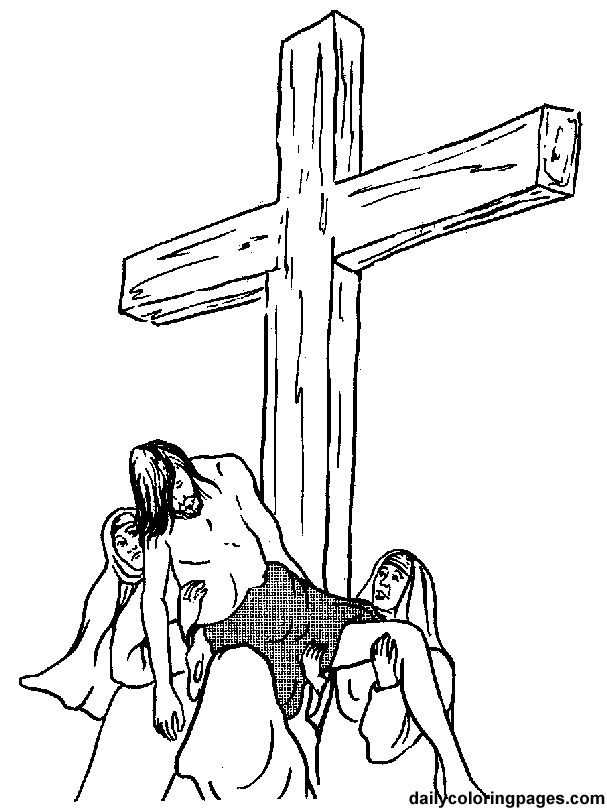 607x810 Crucifixion And Resurrection Of Jesus Christ Coloring Pages